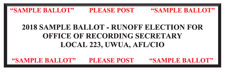 2018 Sample Ballot Runoff