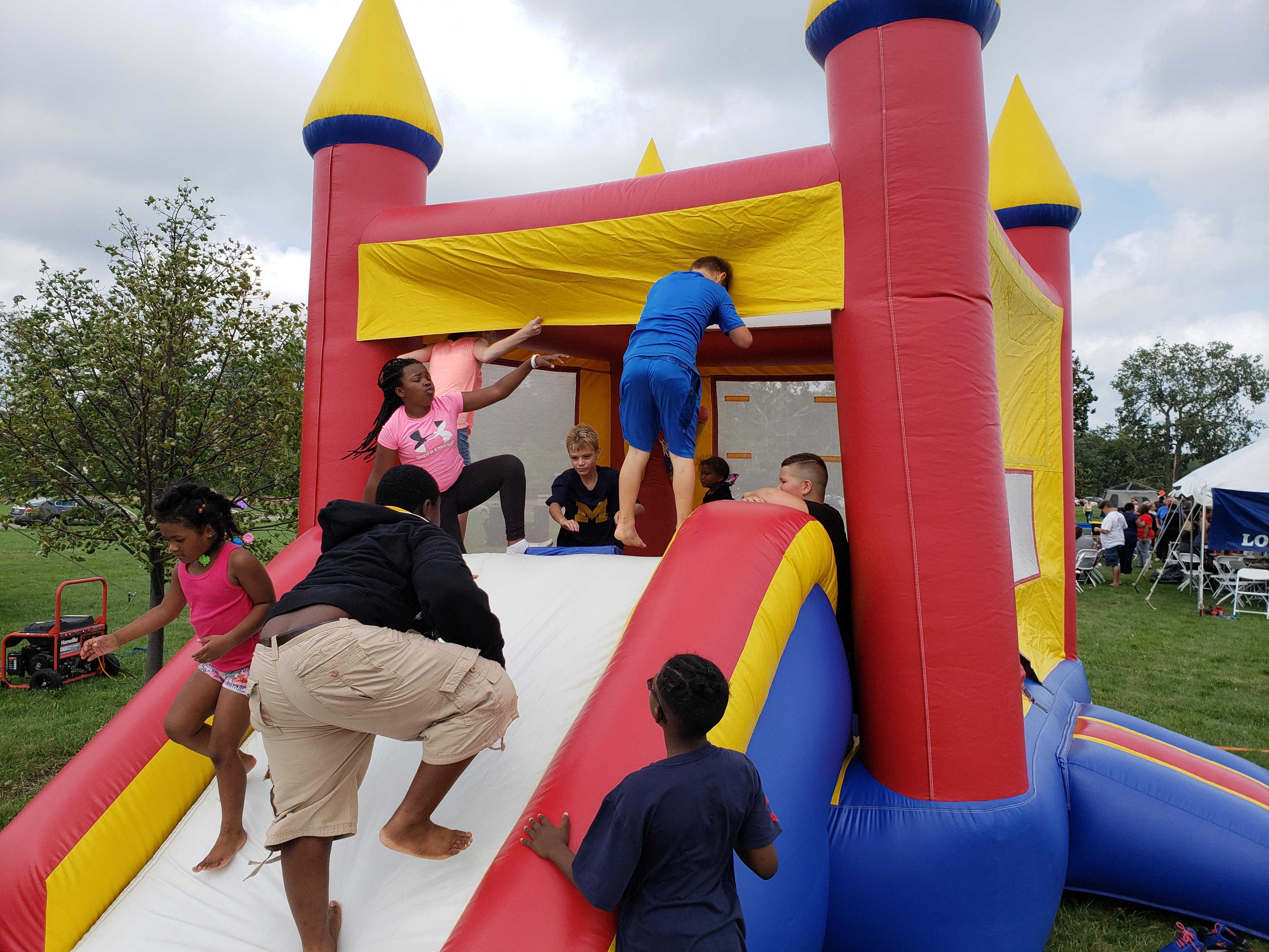 The bounce house never rested