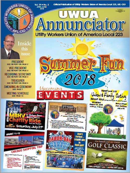 Local 223 Annunciator Summer 2018