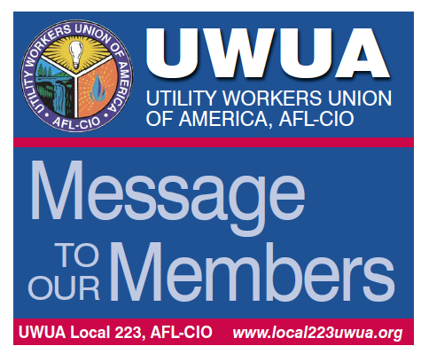 UWUA Message to Members