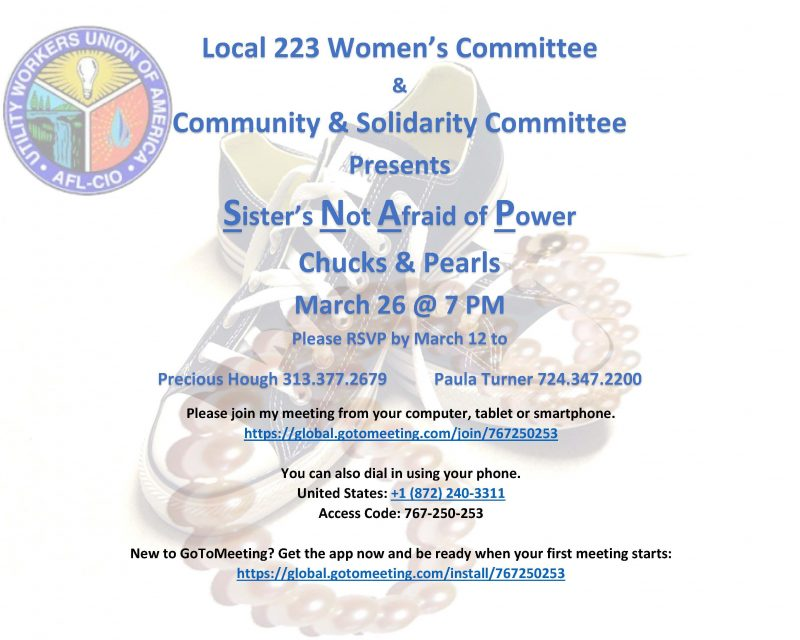 """""""Sisters Not Afraid of Power"""" Online Seminar March 26"""