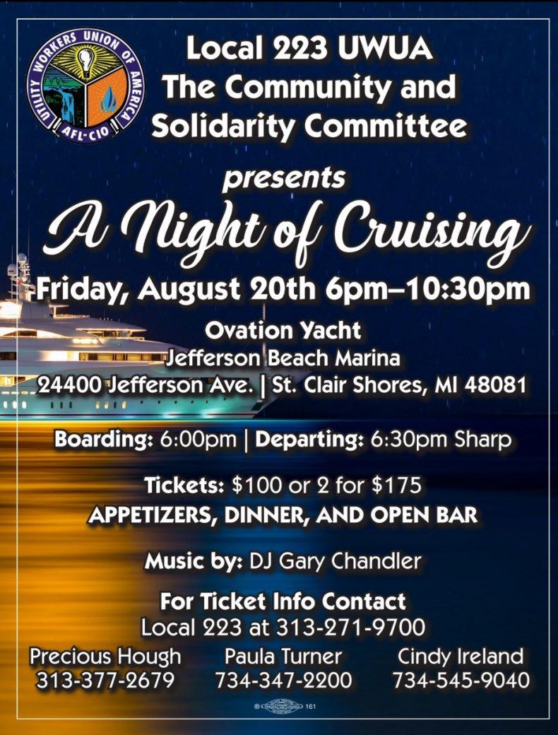 August 20 – Ovation Cruise
